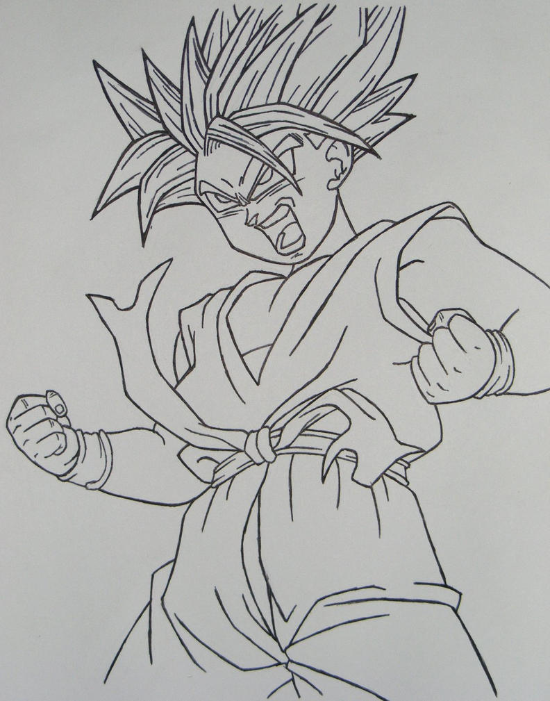 Ssj Drawing Kid Trunks Ssj Drawings