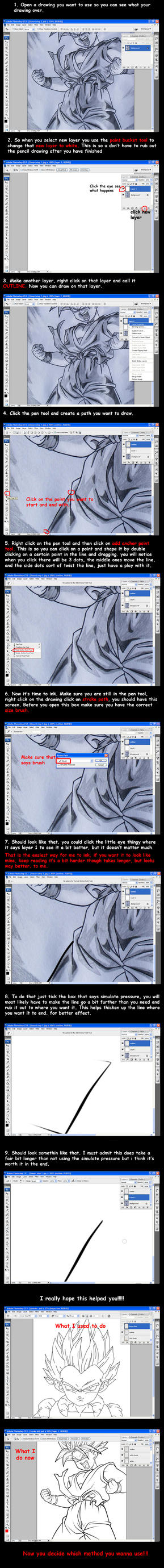 lineart tutorial by Hitmanrulzs22