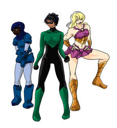 Superhero trio by LadyProphet