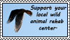 Support wildlife rehab stamp by TornFeathers