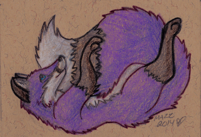 violet ACEO by TornFeathers