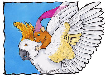 Afternoon Flight by TornFeathers