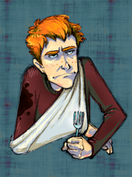 Hungry Ron by moderate-mind