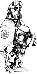 Hellboy Trio by moderate-mind