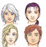 Neo-Shitennou Facial models