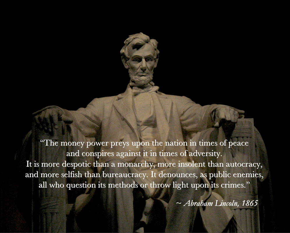 Lincoln on The Money Power by poasterchild