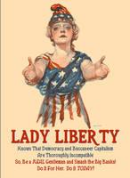 Lady Liberty Needs Our Help, Gentlemen by poasterchild