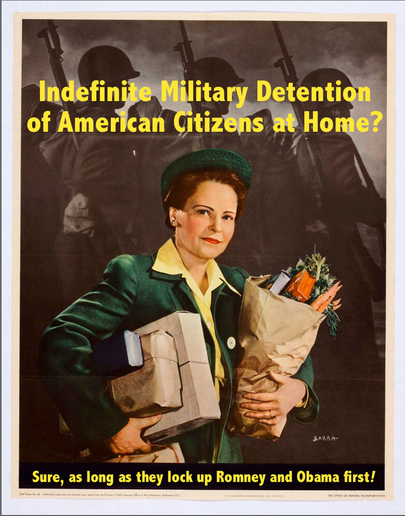 Indefinite Military Detention of Americans? by poasterchild