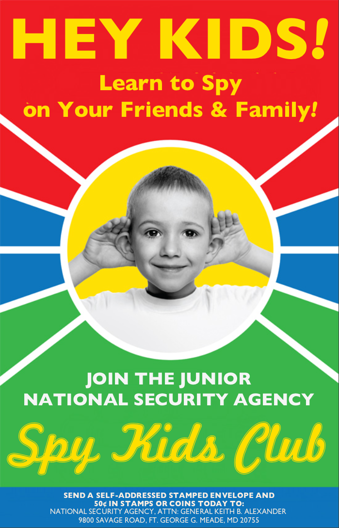 Join the Junior NSA Spy Kids Club! by poasterchild