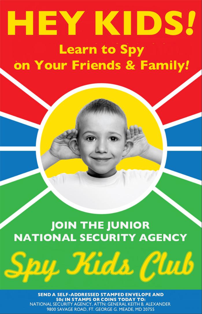 Join the Junior NSA Spy Kids Club! by poasterchild