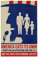 America Eats Its Own! by poasterchild