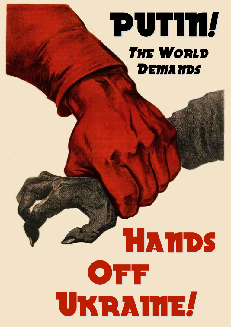 Hands Off Ukraine! by poasterchild