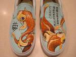 Koi Fish Shoes by shotgunopera
