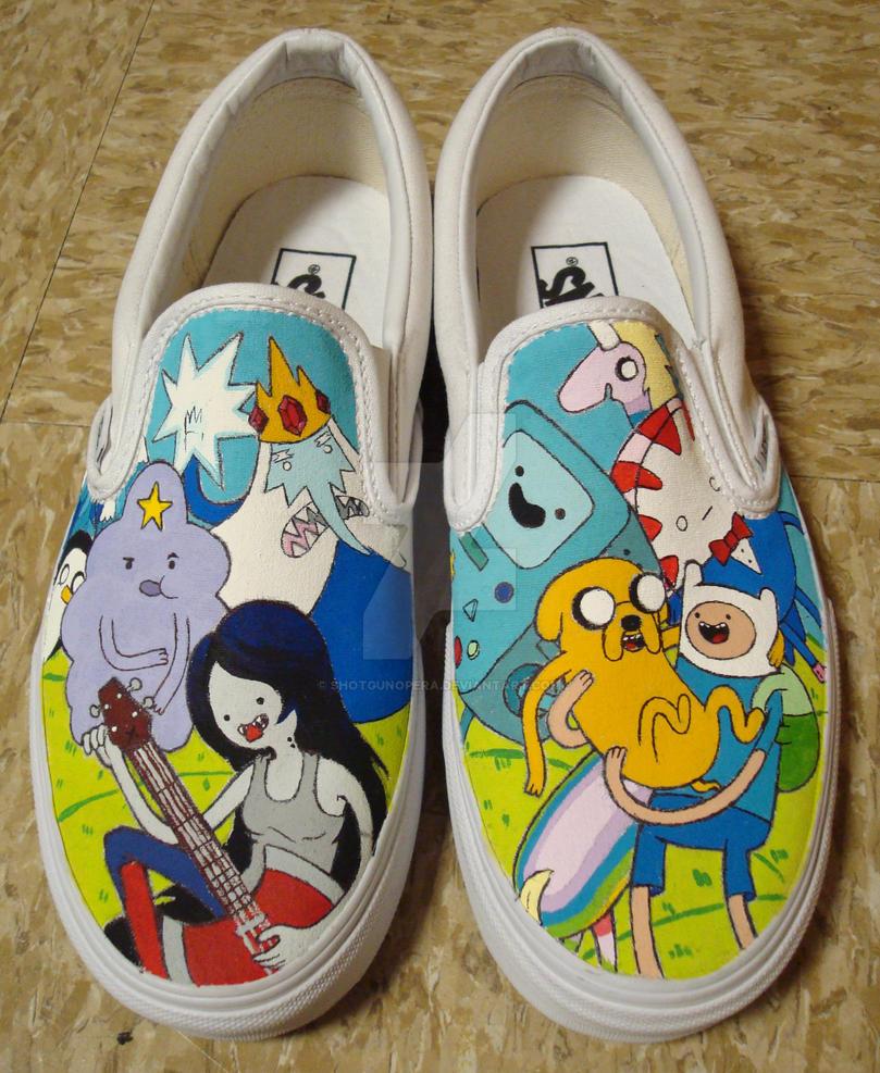 Adventure Time Shoes by shotgunopera on DeviantArt
