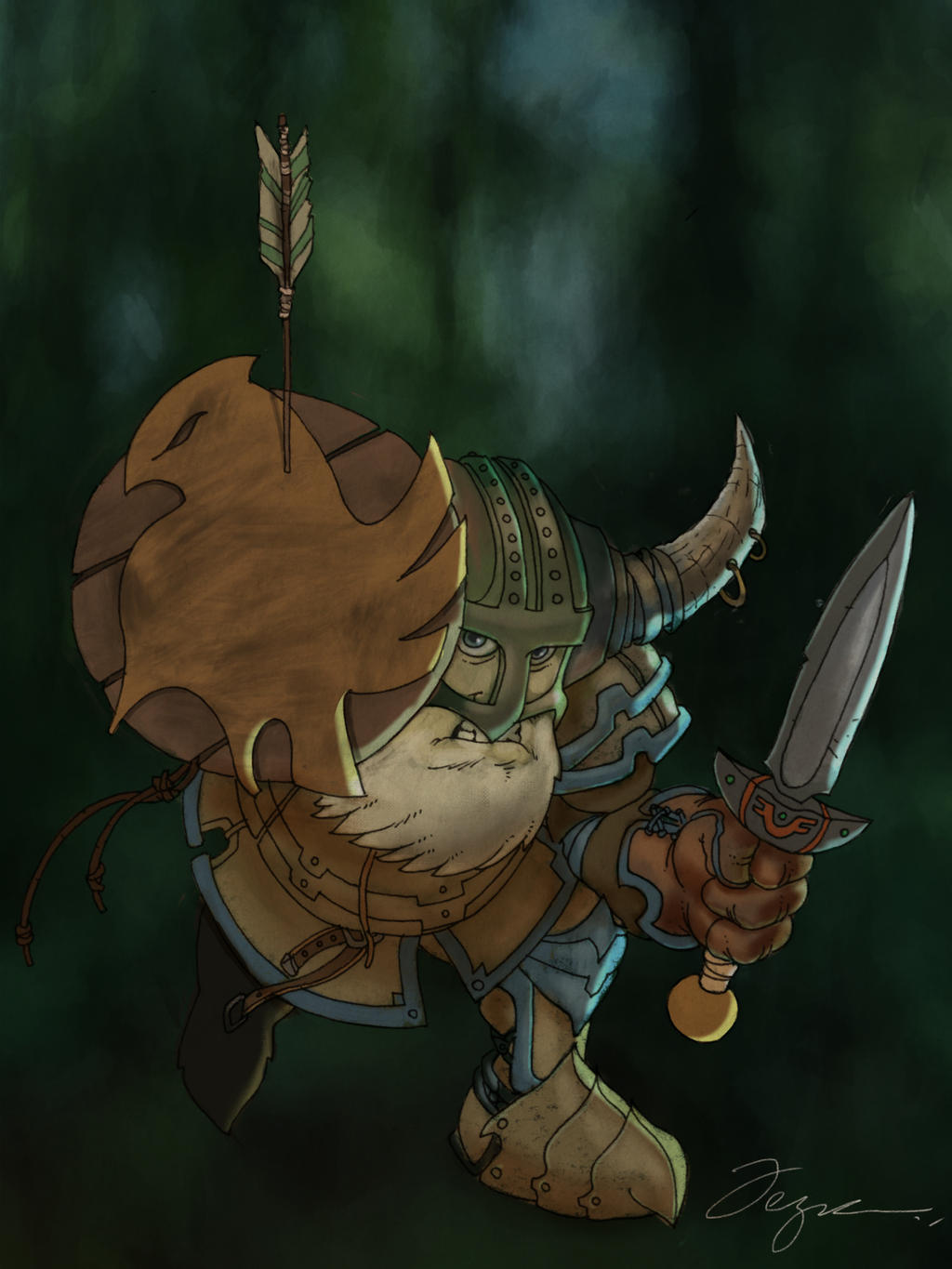 Dwarf warrior by PaladinLord