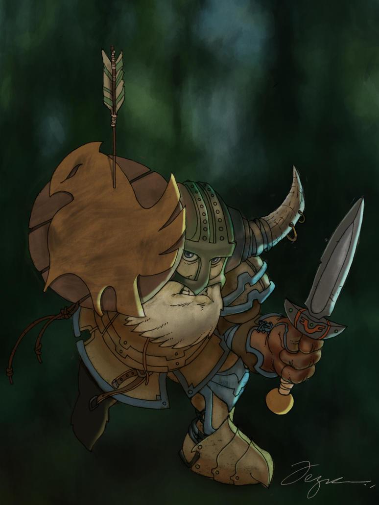 Dwarf warrior by PaladinLord