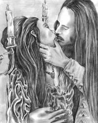 Dracula and Mina by Dracfan95