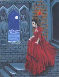 Woman in Red by Dracfan95