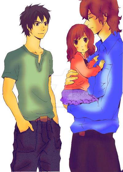 Edward Jacob and Renesmee. by Hazuki-chii on DeviantArt