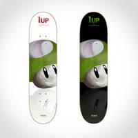 Skateboard graphic: 1up shroom