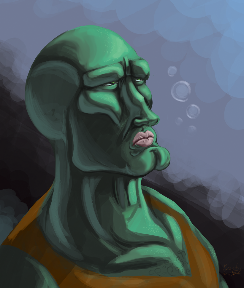 Handsome Squidward By CoyoteEsquire On DeviantArt