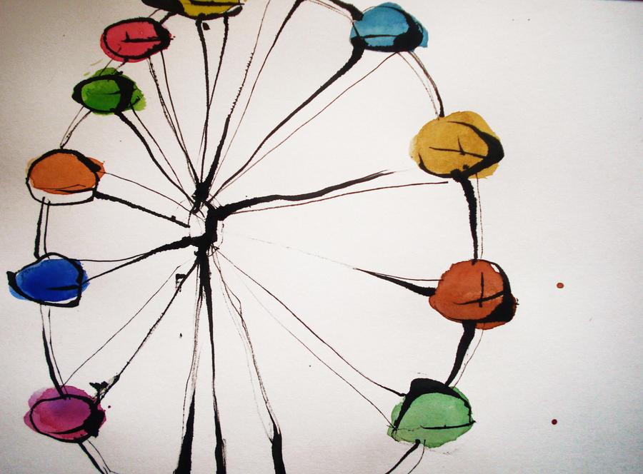 ferris wheel. by PeanutToTheButter