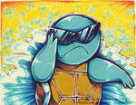 Squirtle squad water explosion by MiakaLin