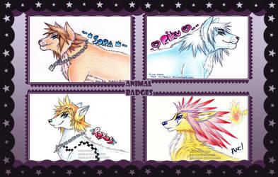 Kingdomhearts animal badges by MiakaLin