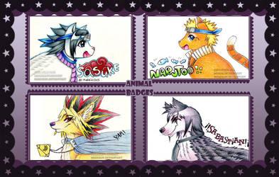 Animu badges by MiakaLin