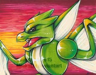 Scyther crayola drawing by MiakaLin