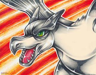 Aerodactyl crayola drawing by MiakaLin