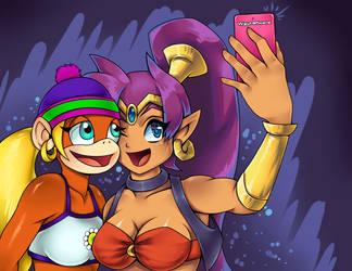 Shantae and Tiny Kong Selfie time by MiakaLin