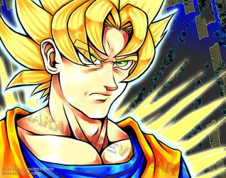 Goku Super Saiyan by MiakaLin