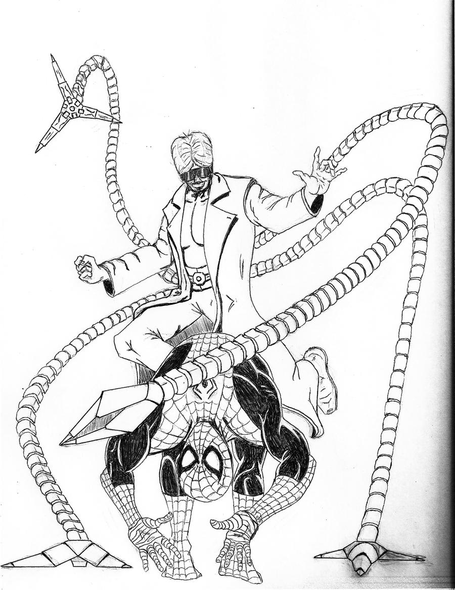 Ock Free Colouring Pages Doc Ock Coloring Pages