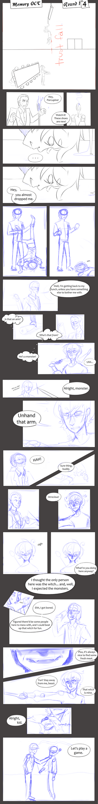 Memory OCT Round 1: Ichabod vs. Walter (4) by PhoenixTea