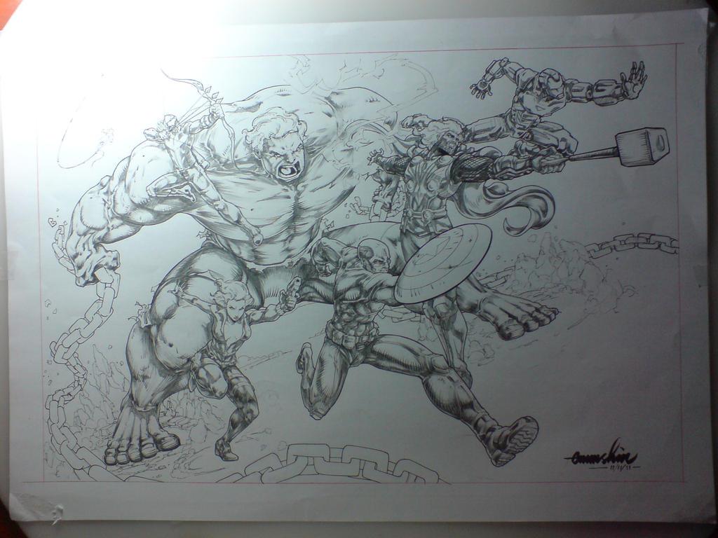 The Avengers WIP by emmshin
