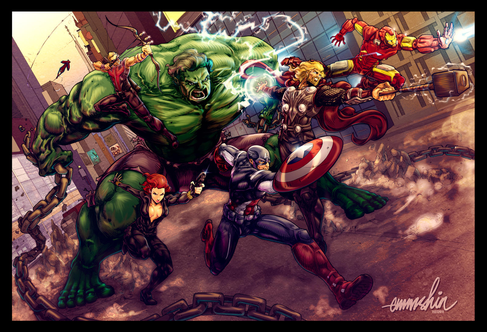 The Avengers by emmshin