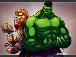 Thor Hulk by emmshin