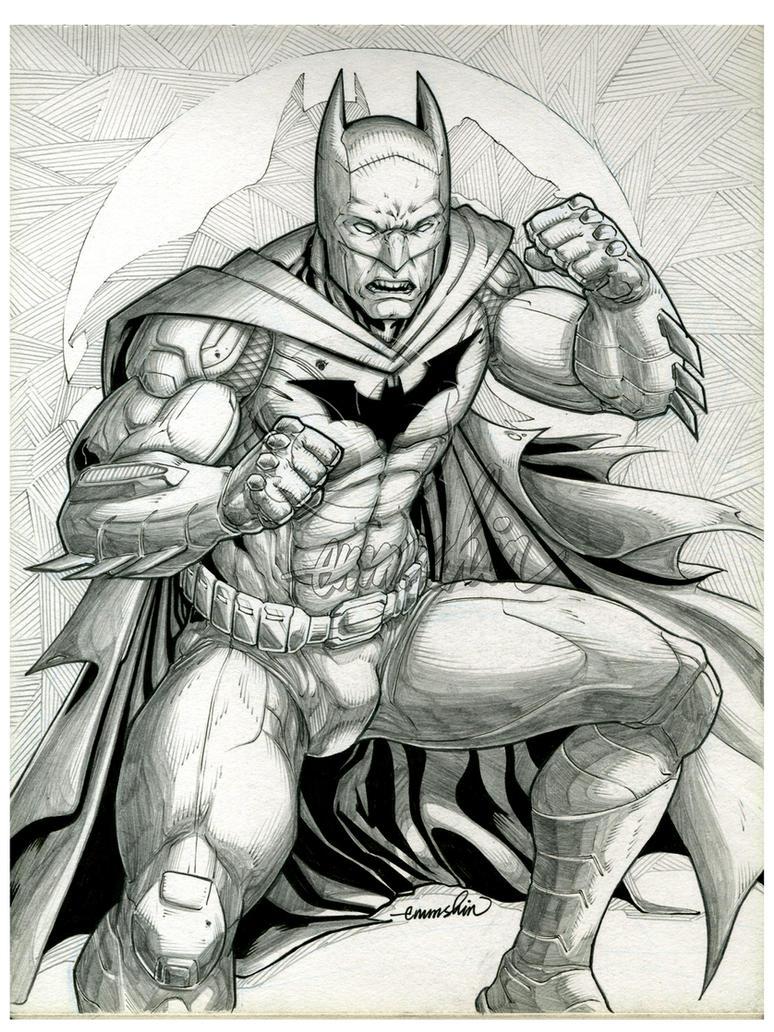 Line Art Comic : Batman lineart by emmshin on deviantart