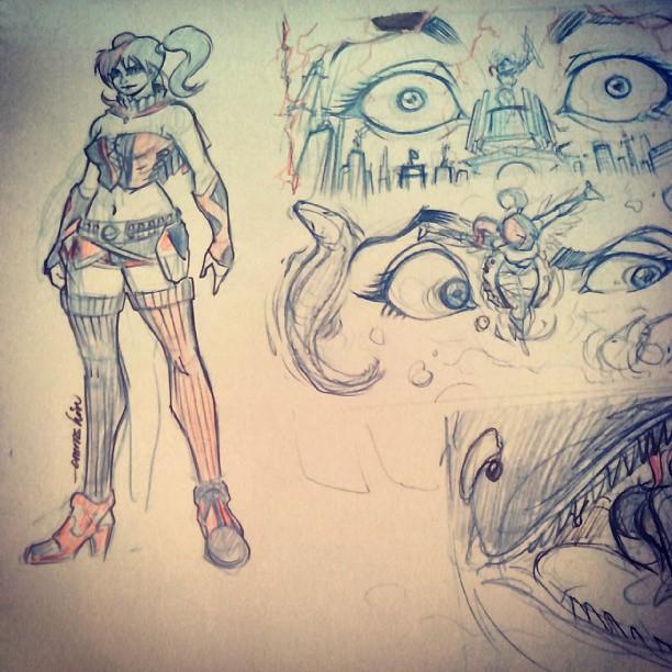 Harley Quinn (Studies) by emmshin