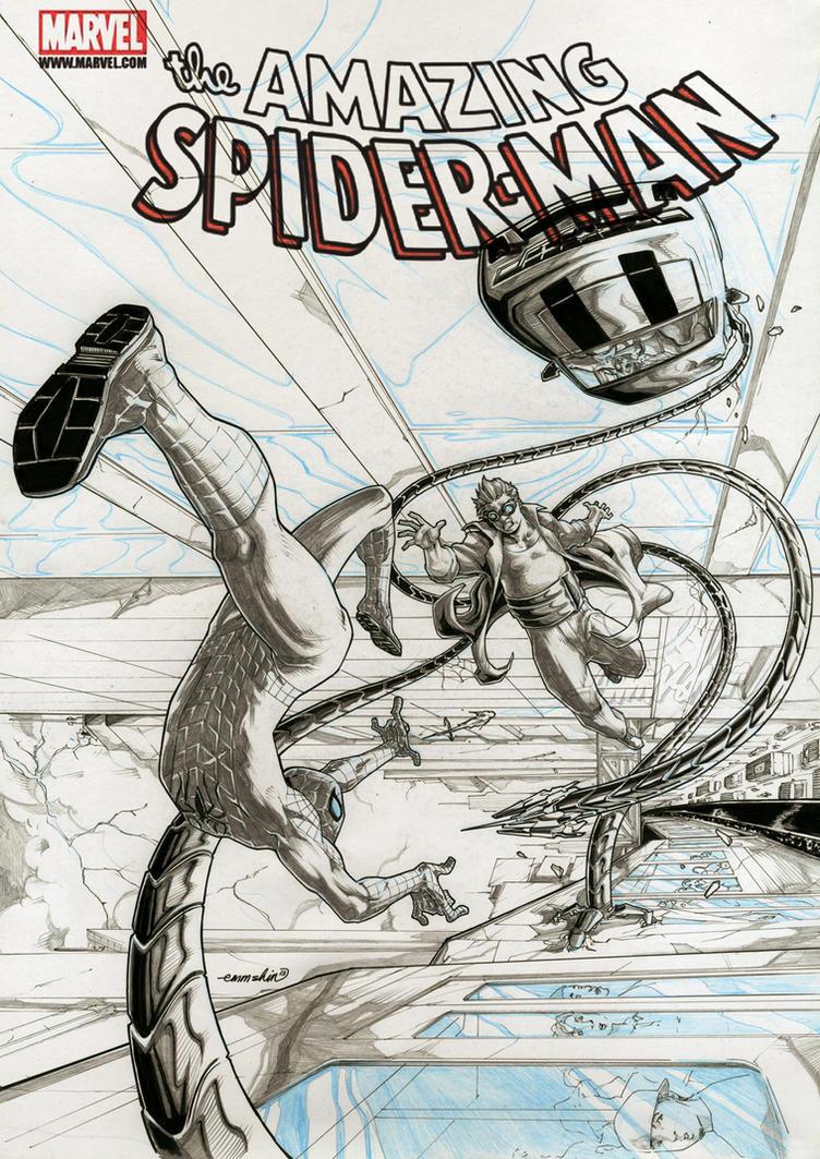 Spider-Man Vs Doctor Octopus (pencils) by emmshin