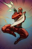 Deadpool (commission(pencils)) by emmshin