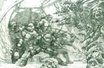 TMNT Zombie Apocalypse (pencils)