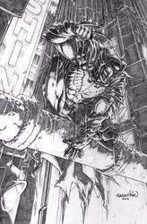 Talon Knight (Commission(pencils)) by emmshin