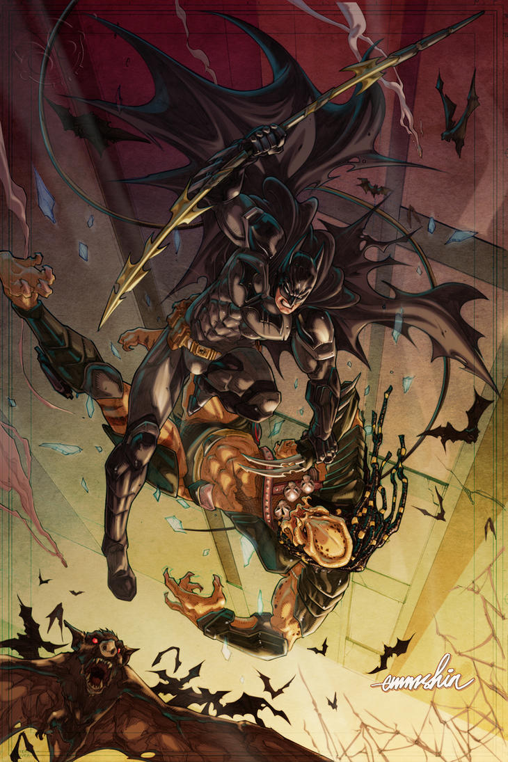 Batman Vs. Predator by emmshin