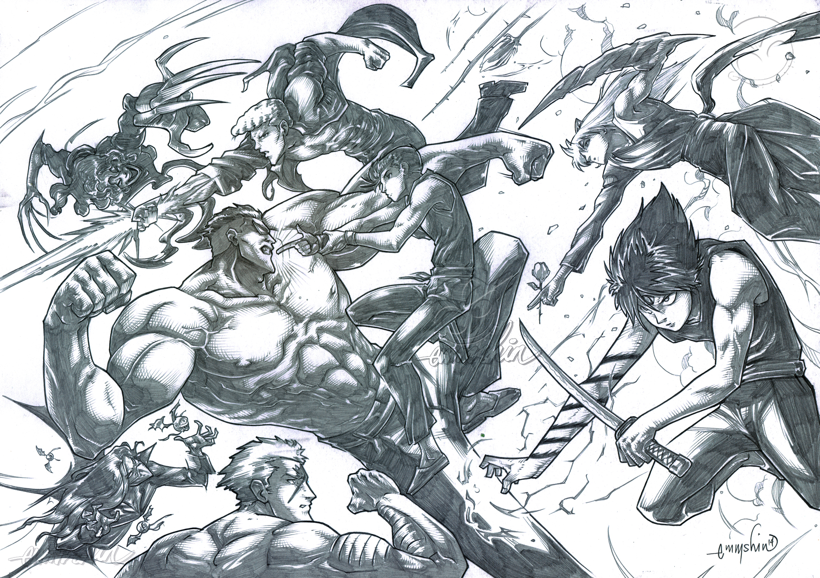 YuYu Hakusho The Dark Tournament Final Battle (P) by emmshin