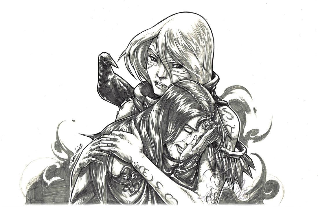 Pathfinder's Seraphina Cyarra (pencils) by emmshin