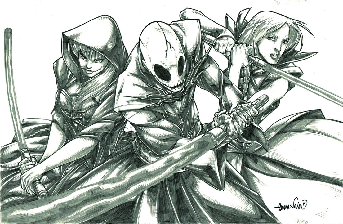 Attack of the Sith Lords (pencils) by emmshin