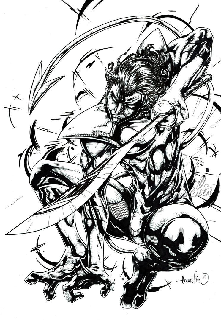 Nightcrawler (inks) by emmshin