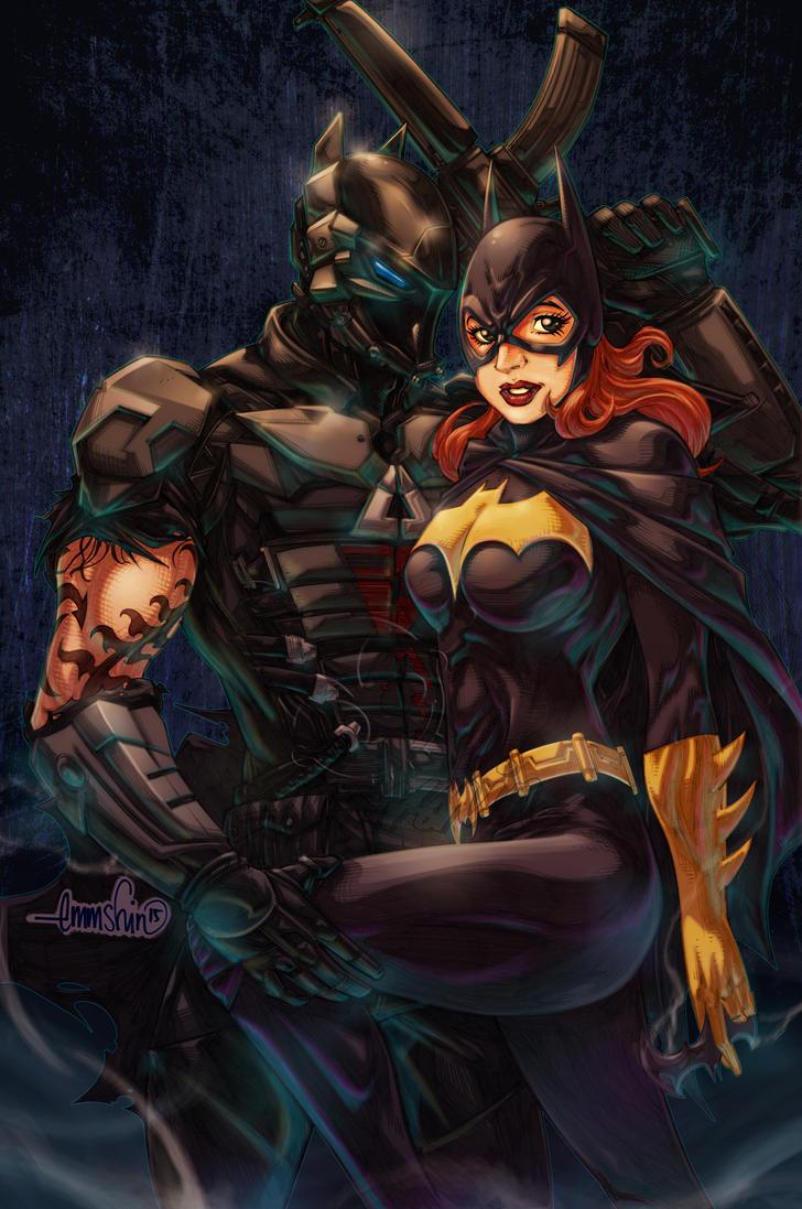 Arkham Knight / Batgirl by emmshin